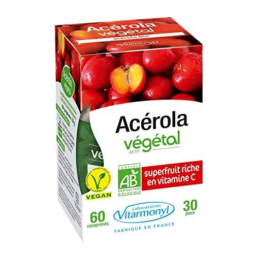 Vitarmonyl - Acérola Actif Végétal Bio 39G - Prix Unitaire - Livraison Gratuit En France Métropolitaine Sous 3 Jours Ouverts