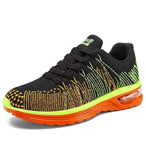Mâle estivales pâles chaussures chaussure de sport avec mesh respirant chaussures running chaussures de course Orange