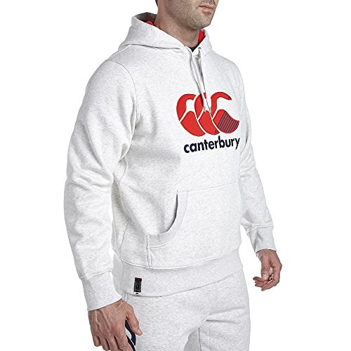 Canterbury Stripe CCC Logo–Felpa con cappuccio, Uomo, Stripe Ccc Logo, grau - Cloud Marl, X-Large grau - Cloud Marl
