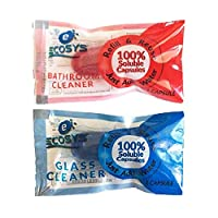 Ecosys Refill Pack of 2: Glass Cleaner & Bathroom Cleaner water soluble capsule each-1Litre