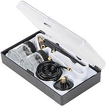 Silverline 380158 - Aerógrafo para manualidades con 6 piezas, 15 ml
