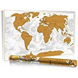 scratch off world map weltkarte zum rubbeln rubbel landkarte deluxe in xxl. Black Bedroom Furniture Sets. Home Design Ideas