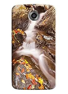 Omnam Waterfall Printed Designer Back Cover Case For Google Nexus 6