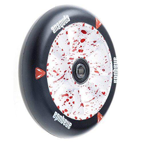 Preisvergleich Produktbild Anaquda Engine Stunt-Scooter Wheel 110mm + Abec9 Kugellagern RS white / blood