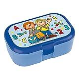 Lunchbox * SCHULANFANG * für Kinder von Lutz Mauder // Brotdose ohne Namensdruck // Perfekt für Jungen // Einschulung Schule Vesperdose Brotzeitbox Brotzeit (ohne Namen)