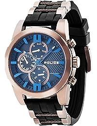 POLICE P14541JSBN-02P MATCHCORD Uhr Herrenuhr Kautschuk Edelstahl 50m Analog Datum schwarz bronze