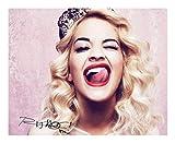 Rita Ora Autogramme Signiert 21cm x 29.7cm Foto Plakat