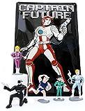 Unbekannt CAPTAIN FUTURE Fan-Set: Blechschild & 5-teiliges Bootleg Figurenset: Captain Future, Greg, Otto, Joan und Ken