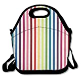 EJjheadband Stripe Couture Rainbow Lunch Box Tote Bag