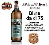Birra Morena Lucana Bianca 4,5% alc vol - CL 75 -Wheat Beer - Blanche -Artigianale - Craft Beer - Italiana - Premiata -Miglior Regalo Eventi Natale Pasqua.