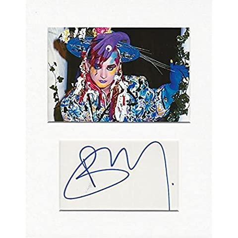 Culture Club – Boy George Autentico autografo AFTAL gioiello