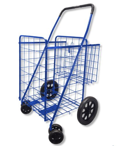 double-basket-black-folding-utility-cart-folds-up-rolling-storage-shopping-carrier-from-scf-blue-by-