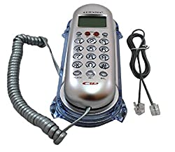 Italish KX - T666CID Landline Caller ID Telephone Corded Phone For Office And Home(Silver)