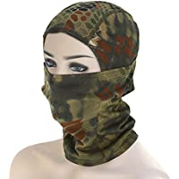 Shuzhen,Airsoft Jagd atmungsaktiv Sturmhaube staubdicht Ski Cycling Wargame Mask(Color:Jungle Camouflage)