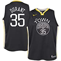 Nike NBA Golden State Warriors Kevin Durant 35 KD 2017 2018 City Edition Jersey Oficial Away, Camiseta de Niño