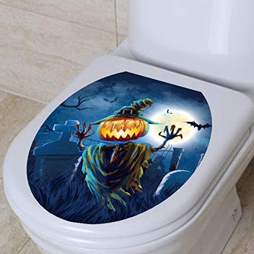 Wandtattoo Halloween Dekoration 3D Wc Abdeckung Aufkleber Wasserdichte Nette Kürbis Wc Poster Aufkleber Bad-Accessoires 33X28 Cm