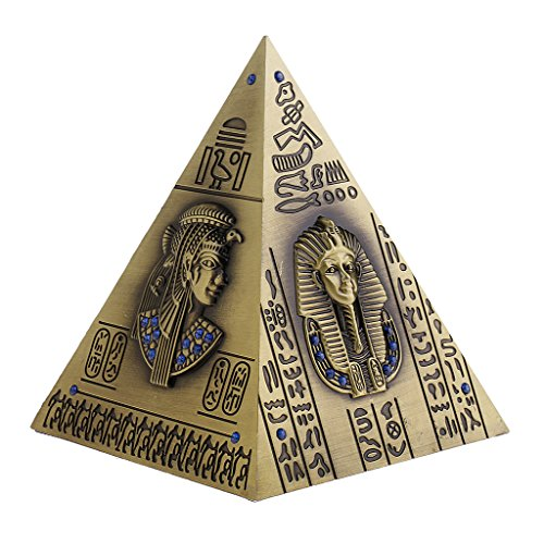 1 Pieza Hucha Alcancía Forma Pirámide Egipto Caja