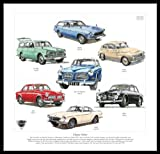 Volvo Kunstdruck–Fahrzeuge 123GT 122S 120Amazon PV544221/2221800ES 1960er 1970er