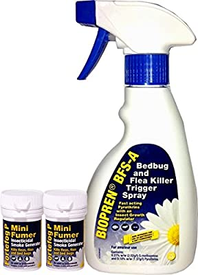 Bed Bug and Flea Spray & Fumer Killer / Control Kit - Treatment for 1 Room | Advanced IGR Spray (The Most Effective Flea and Bed Bug Spray in the UK) | Use on Mattresses, Bed Frames, Furniture and More