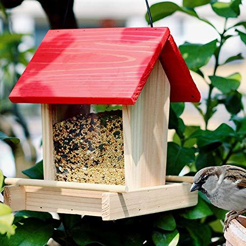 jaspenybow Vogelhäuschen-Vogel im Freien, der regenfesten Balkon-Vogel-Nahrungsmittelkasten hängt