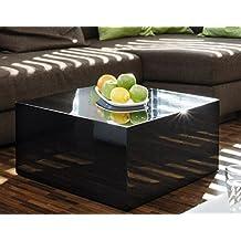Couch Tisch Schwarz Hochglanz Quadratisch Aus MDF 60x60cm