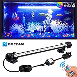 DOCEAN LED Aquarium Lights, Multi-color Waterproof Fish Tank Light RGB Underwater Submersible Lights Suitable for Saltwater and Freshwater(28CM/11 inch)
