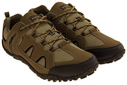 Gola Herren Textile Faux Leder Walking Trekking Schuhe Taupe/Schwarz
