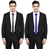 #4: Studio Shubham reversible black and blue hexagonal ss tie