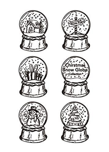 Christmas Snow Global Collection Stempel, Gummi, transparent, für Scrapbook/Fotodekoration, zum Basteln von Karten