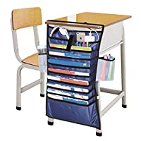 Orpio Multifunctional Desk Book Organizer Bag Hanging Reading Learning Books Files Storage Bag - Assorted Color