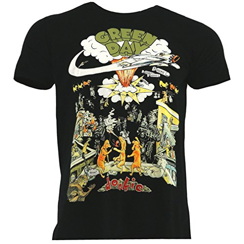Green Day 1994 Tour negro Camiseta Oficial Con licencia música