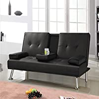 Manhattan Cinema Faux Leather Sofa Sofa Bed with Cup Holders (Multiple Colours)