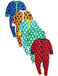 next Bebés Niños Paquete De 5 Pijamas Peleles Estampado De Estrella Varios Colores (0 Meses-2 Años)
