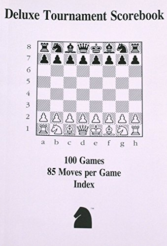 Deluxe Chess Tournament Scorebook with Lay Flat Binding - 100 Games by ChessCentral