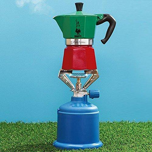 Bialetti Moka Express Italia Collection (Tricolor), 3 cup coffee maker, Aluminum