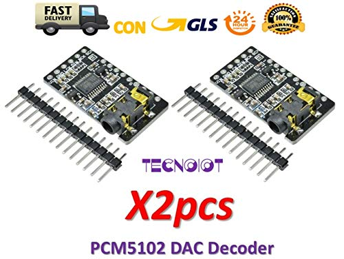 TECNOIOT 2pcs PCM5102 Decoder GY-PCM5102 I2S Interface Format Player Digital Audio PCM5102A Hdtv-starter-kit