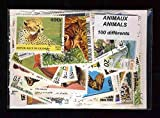 Briefmarkensammlung Wildtiere abgestempelte Marken, verschiedene Motive 300Briefmarken verschiedenen