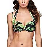 TC WOW Multiway Bikini Top - Bikini Oberteil mit Vier Verschiedenen Tragemöglichkeiten, mit und Ohne Träger - Midnight Palm - Größe 80D (20002937436)