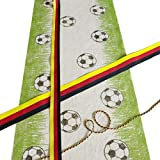 Sizoflor Fußballtischläufer - weiß/grün - 30 cm breit - 5 Meter Rolle - 76-300-5 - 2