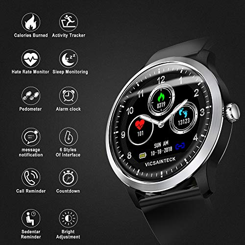 Zoom IMG-2 fitness tracker smartwatch android ios
