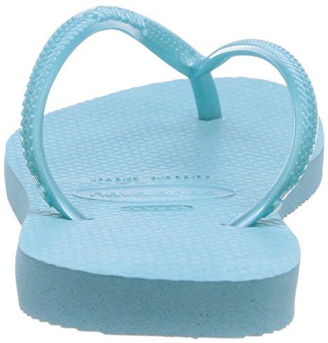 Havaianas Slim, Tongs Fille Bleu (Ice Blue 0642)