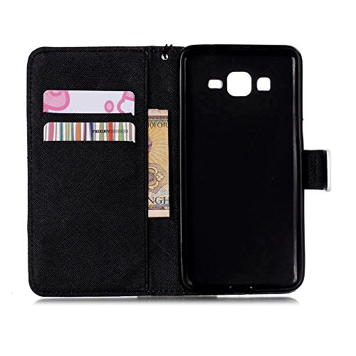 Linvei Samsung Galaxy S4 Mini Cuir Coque Portefeuille Case in Style Book Avec beau modèle -Housse Etui Pour Samsung Galaxy S4 Mini C-11