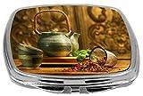 Rikki Knight Compact Mirror, Asian Herb Tea Kettle Scene, 3 Ounce Amazon