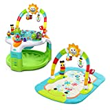 Bright Starts 60539 2-in-1 Laugh und Lights Activity Gym und Saucer Activitatszentrum