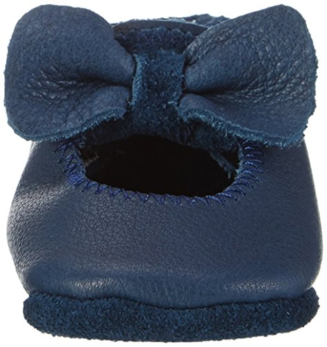 Pololo Baby Mädchen Ballerina Krabbel-& Hausschuhe Blau (Tobagoblau) KrNVGscd0