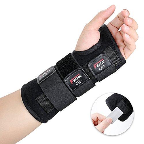 Featol Handgelenkbandage Handgelenkstütze Handgelenkschiene, Schutzfunktion Schmerzlinderung und die Stabilität unterstützen, behilflich für Männer und Frauen| Links & Rechts (Links, M/L(17-22)) ...