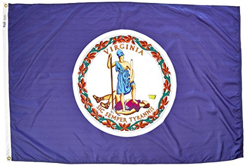 Annin Flagmakers 145650 Virginia State Flag Nylon SolarGuard NYL-Glo, 2 x 91 cm, 100% Offiziellen Designspezifikationen 4x6' Nicht zutreffend -