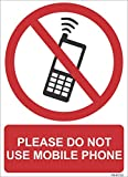 #3: SignageShop PS-81133 High quality Vinyl Please do not use mobile phone Sign