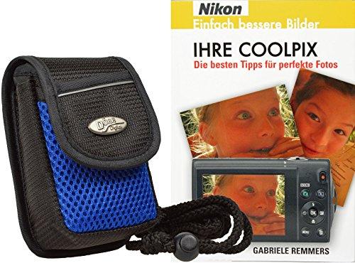 Progallio Foto-Tasche ADVENTURE MAYLIS schwarz-blau plus Fotobuch IHRE COOLPIX für Nikon
