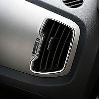 Car Styling Interior AC Air Conditioner Moldura de ventilación Cubierta de ABS Chrome 6PCS / SET